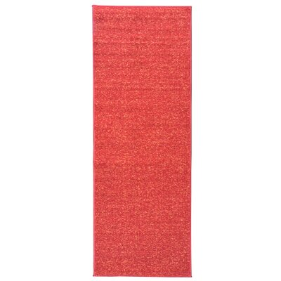 Escalier Red Contemporary Solid Design Stair Tread Size: 8.5 x 22.5