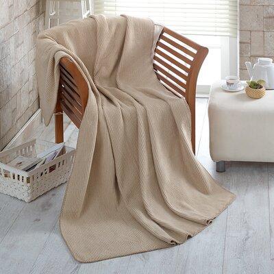 Soft Cozy Fleece Blanket Color: Waffle Beige