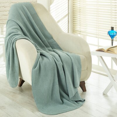 Soft Cozy Fleece Blanket Color: Waffle Sage Green