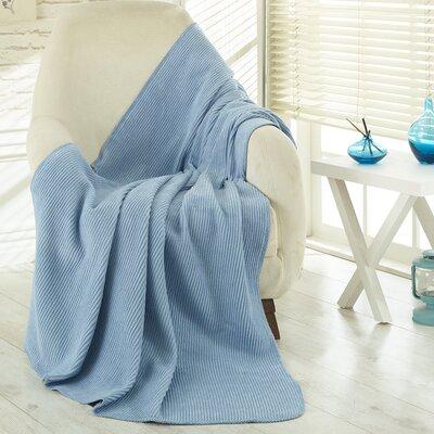 Soft Cozy Fleece Blanket Color: Waffle Light Blue