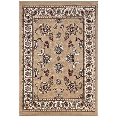 Paterson Floral Oriental Design Beige Area Rug Rug Size: 710 x 910