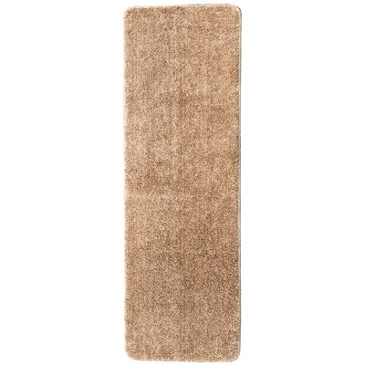 Soft Solid Non Slip Shag Carpet Camel Stair Tread Quantity: Set of 14