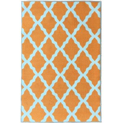 Glamour Orange Area Rug Rug Size: 5 x 66