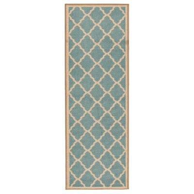 Prestige Teal Blue Area Rug Rug Size: Runner 27 x 910