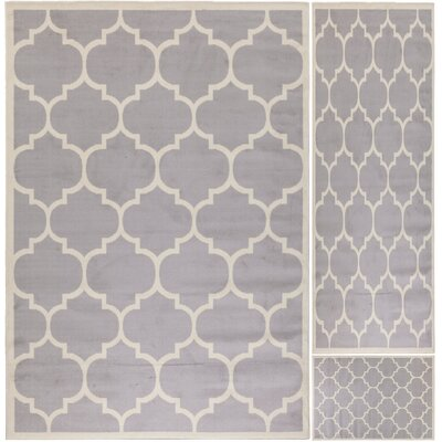 Paterson 3 Piece Area Rug Set in Light Gray