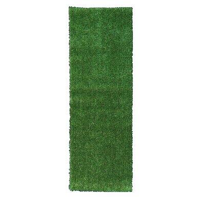 Garden Grass Green Indoor/Outdoor Area Rug Rug Size: Runner 18 x 411
