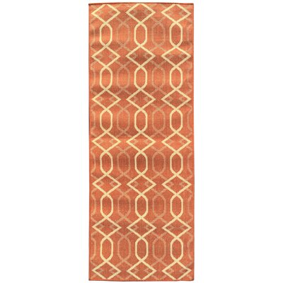 Jardin Orange Indoor/Outdoor Area Rug Rug Size: Runner 27 x 7