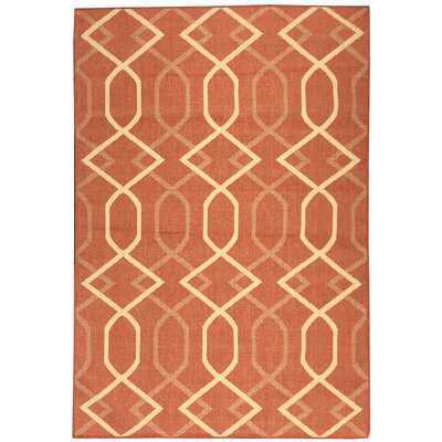 Hooper Orange Indoor/Outdoor Area Rug Rug Size: 53 x 73