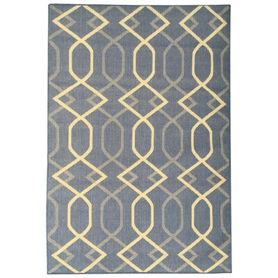 Jardin Blue Indoor/Outdoor Area Rug Rug Size: 53 x 73