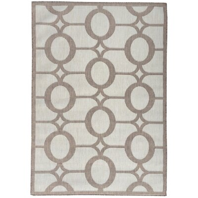 Emma Beige Indoor/Outdoor Area Rug Rug Size: 53 x 73