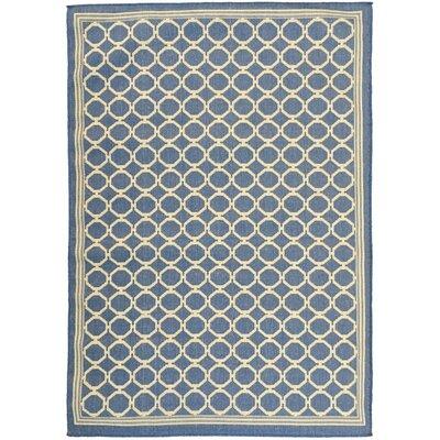 Chapman Blue Indoor/Outdoor Area Rug Rug Size: 53 x 73