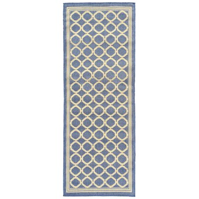 Jardin Blue Indoor/Outdoor Area Rug Rug Size: Runner 27 x 7