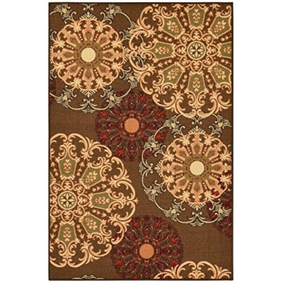 Galesburg Chocolate Area Rug Rug Size: 26 x 41