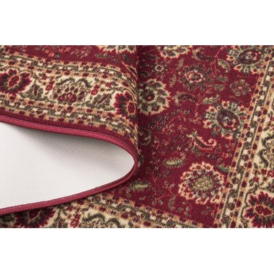 Ryan Dark Red Floral Indoor/Outdoor Area Rug Rug Size: 28 x 41