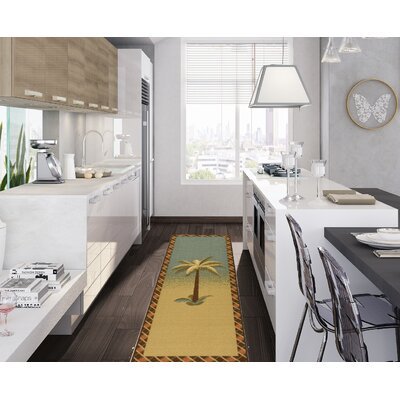 Saras Kitchen Blue/Beige Area Rug