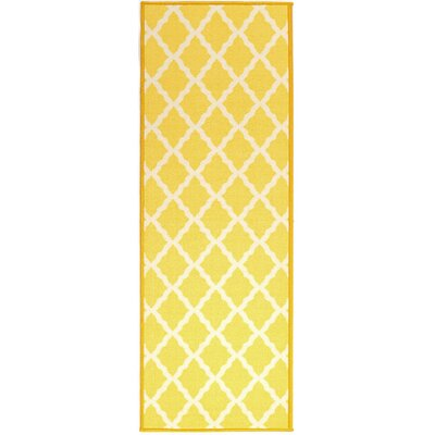 Staunton Yellow Area Rug Rug Size: Rectangle 33 x 5