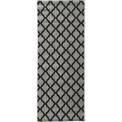 Glamour Dark Gray Area Rug Rug Size: Runner 22 x 6