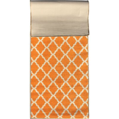 Glamour Orange Area Rug Rug Size: 18 x 411