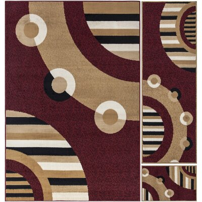 Chelsy Dark Red Area Rug