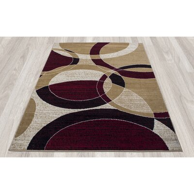 Paterson Gold Circles Area Rug Rug Size: 5 x 7