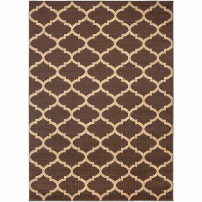 Royal Brown Area Rug Rug Size: 53 x 7