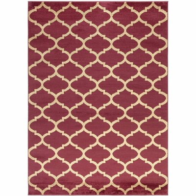 Royal Red Area Rug Size: 710 x 910