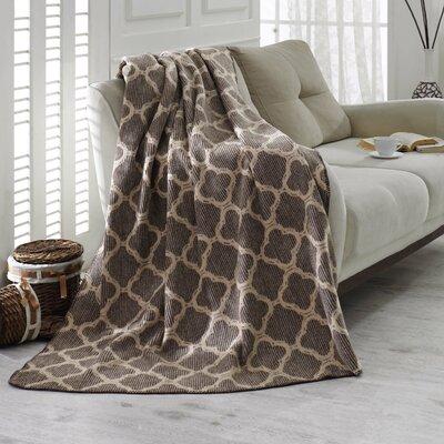 Waffle Reversible Fleece Blanket Color: Brown