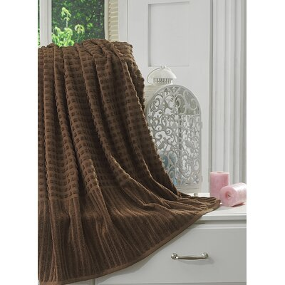 Yorkshire Piano Bath Towel Color: Brown