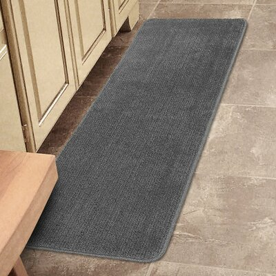 Bundinie Hill Bath Mat Rug Size: Runner 18 x 49, Color: Gray