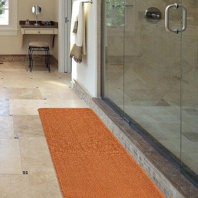 Softy Bath Mat Rug Size: Runner 18 x 49, Color: Orange