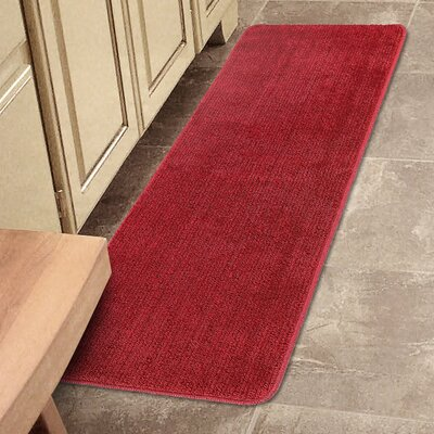 Bundinie Hill Bath Mat Rug Size: Runner 18 x 49, Color: Red