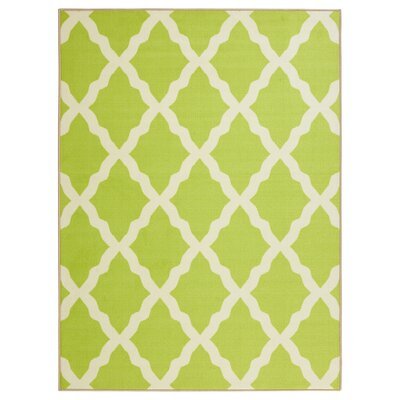 Glamour Machine Woven Green Area Rug