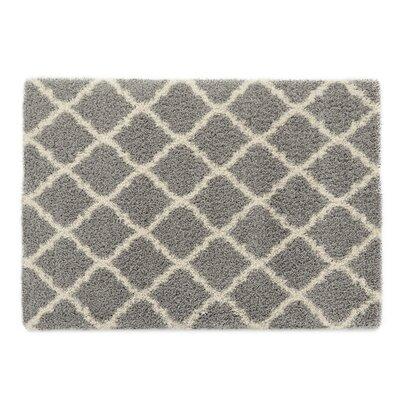 Ultimate Moroccan Trellis Gray Shaggy Area Rug Rug Size: 33 x 47