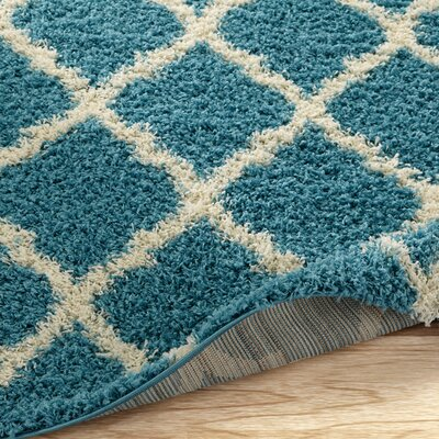 Radford Soft Turquoise Shaggy Area Rug Rug Size: Rectangle 33 x 47