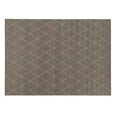 Goodhue Contemporary Trellis Design Gray Outdoor Area Rug Rug Size: 311 x 53
