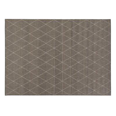 Goodhue Contemporary Trellis Design Gray Outdoor Area Rug Rug Size: 53 x 73