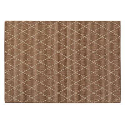 Goodhue Contemporary Trellis Design Brown Outdoor Area Rug Rug Size: 31 x 53