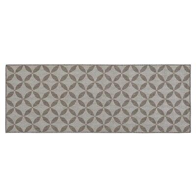 Jardin Contemporary Star Design Gray Outdoor Area Rug Rug Size: Runner 27 x 7