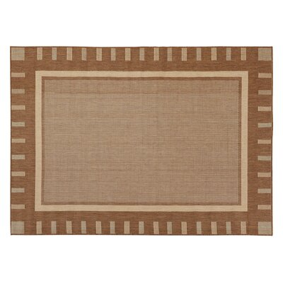 Goodhue Contemporary Bordered Design Gray Outdoor Area Rug Rug Size: 31 x 53