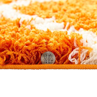 Orange Area Rug Rug Size: 5 x 7