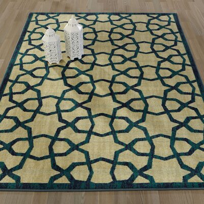 Authentic Green Area Rug Rug Size: 5 x 66