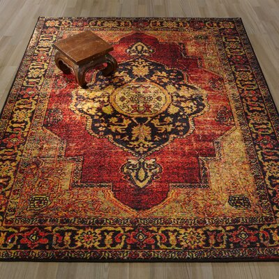 Authentic Red Area Rug Rug Size: 82 x 910