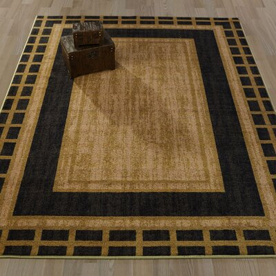 Authentic Dark Green Area Rug Rug Size: 5 x 66