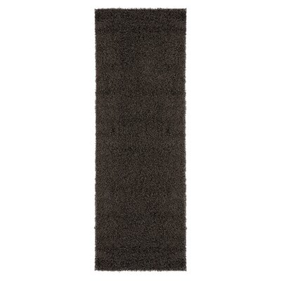 Ultimate Shaggy Soft Solid Plush Shag Dark Gray Area Rug Rug Size: Runner 27 x 8