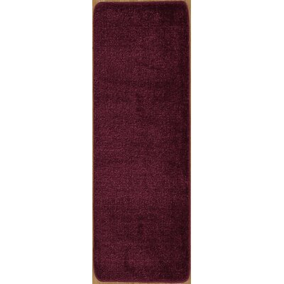 Carreras Non Slip Bath Rug Size: 26 x 72, Color: Purple