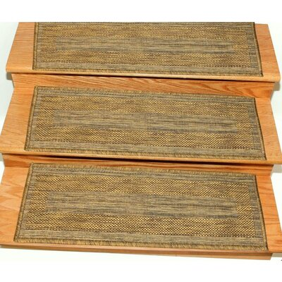 Lammers Jute Back Indoor/Outdoor Carpet Brown Stair Tread Quantity: Set of 7