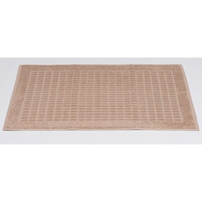 Turkish Heavyweight Cotton Bath Rug Color: Beige