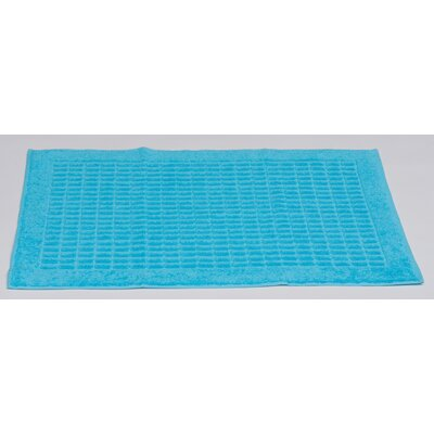 Turkish Heavyweight Cotton Bath Rug Color: Aqua