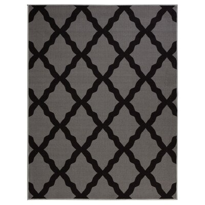 Glamour Dark Gray Area Rug Rug Size: 82 x 910