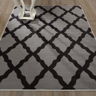 Staunton Dark Gray Area Rug Rug Size: Rectangle 5 x 66